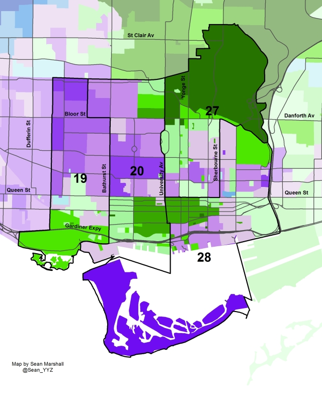 2014 Election - Downtown Wards Mayor Margin