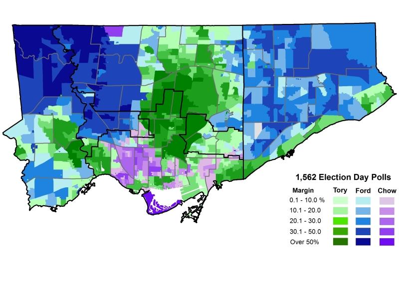 2014 Election - Mayor Votes by Sub 2014