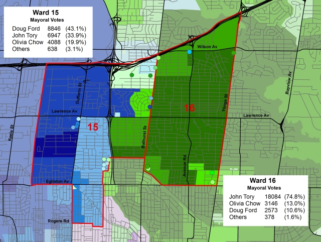 Wards 15 and 16 - mayoral race