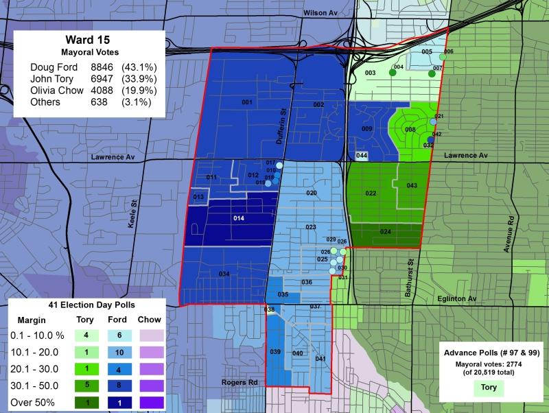 Ward 15 mayoral results