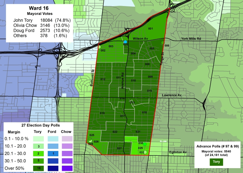 Ward 16 mayoral results