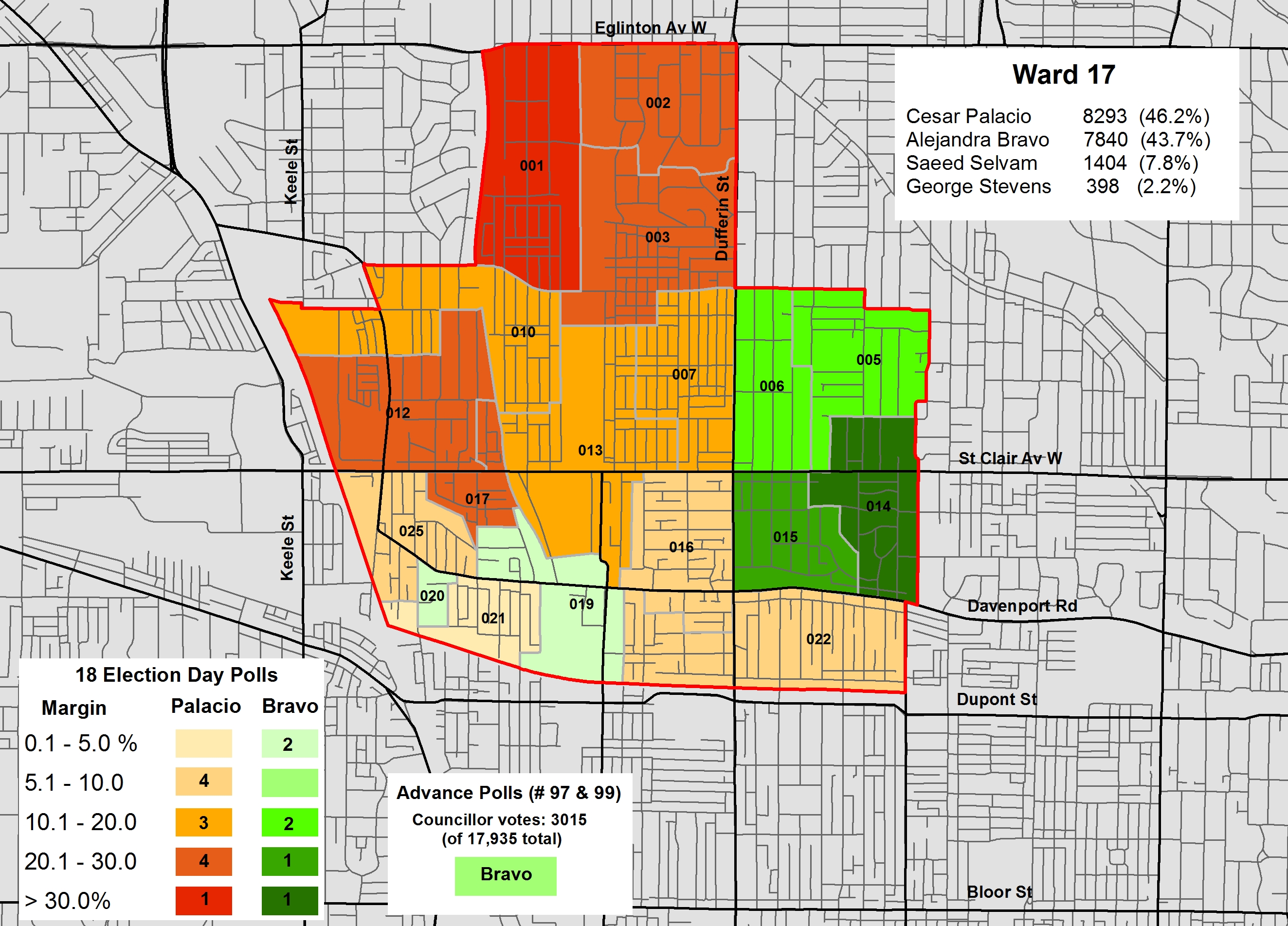 Mapping The Results Of The 2014 Election Ward 17