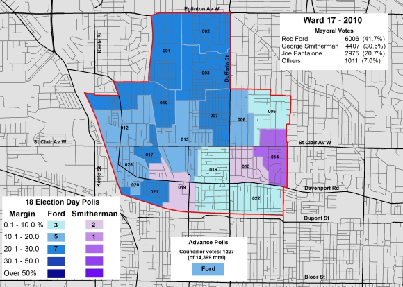 2014 Election - WARD 17 Mayor 2010