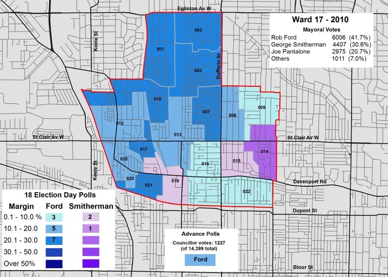2014 Election - WARD 17 Mayor 2010