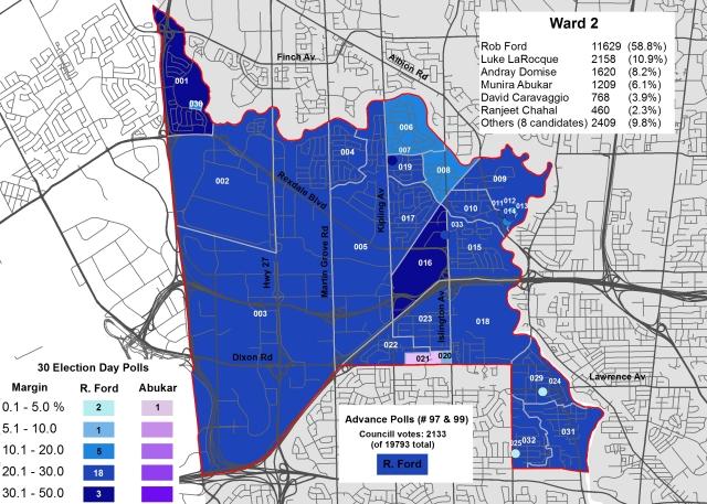2014 Election - WARD 2 Cllr
