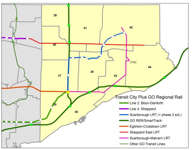 Transit City and Regional Rail