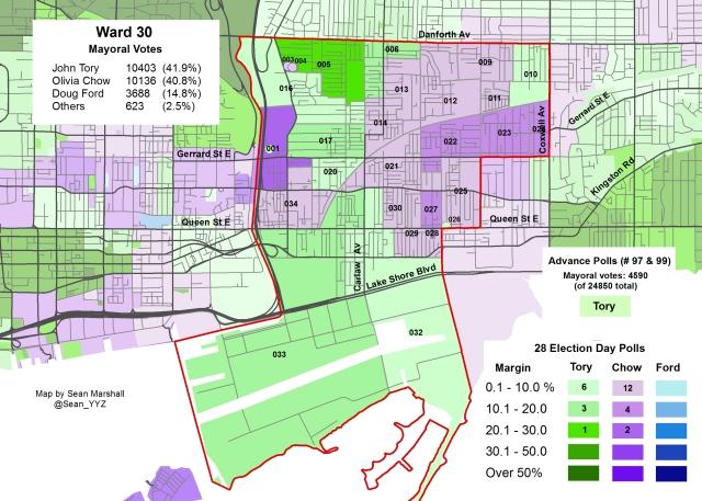 2014 Election - WARD 30 Mayor