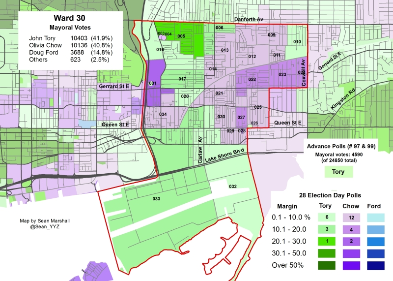 2014 Election - WARD 30 Mayor