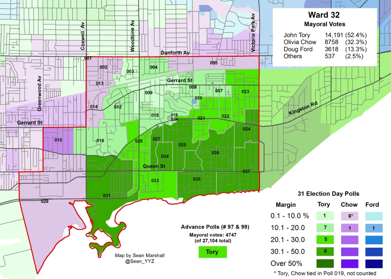 2014 Election - WARD 32 Mayor