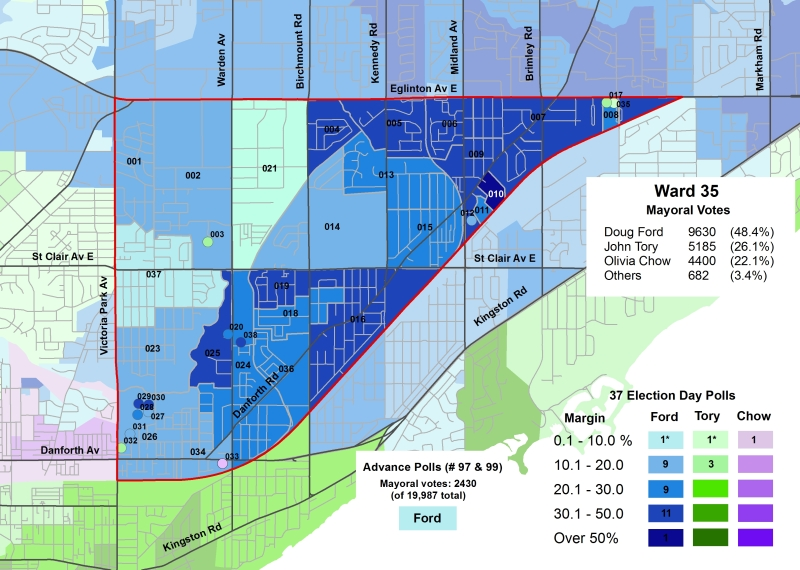 2014 Election - WARD 35 Mayor