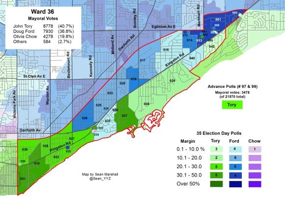 2014 Election - WARD 36 Mayor