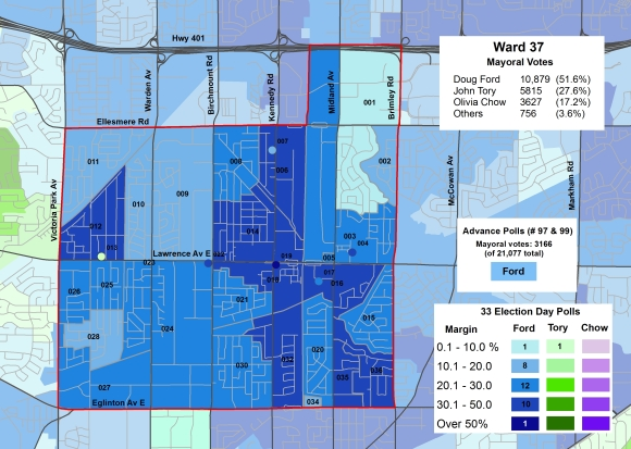 2014 Election - WARD 37 Mayor