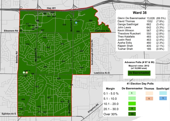 2014 Election - WARD 38 Cllr