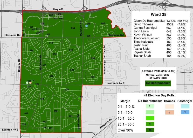 2014 Election - WARD 38 Cllr