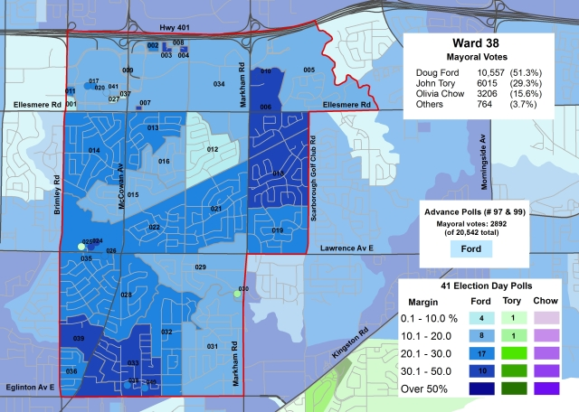 2014 Election - WARD 38 Mayor