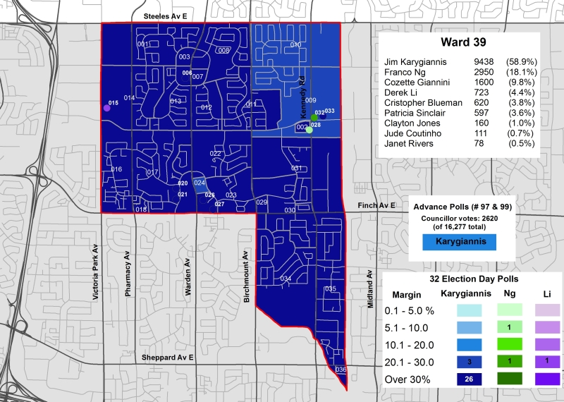 2014 Election - WARD 39 Cllr