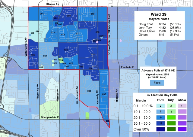 2014 Election - WARD 39 Mayor