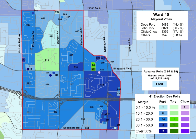 2014 Election - WARD 40 Mayor