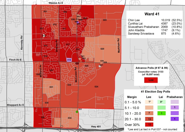 2014 Election - WARD 41 Cllr