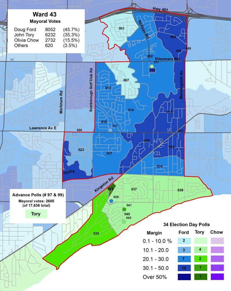 2014 Election - WARD 43 Mayor