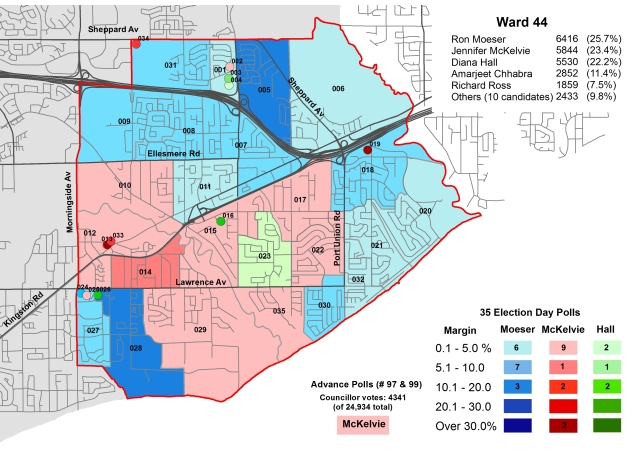 2014 Election - WARD 44 Cllr