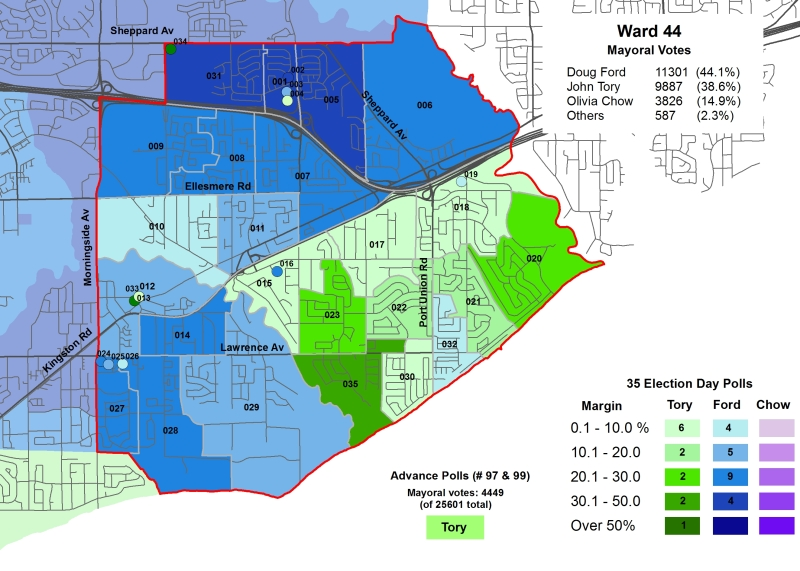 2014 Election - WARD 44 Mayor