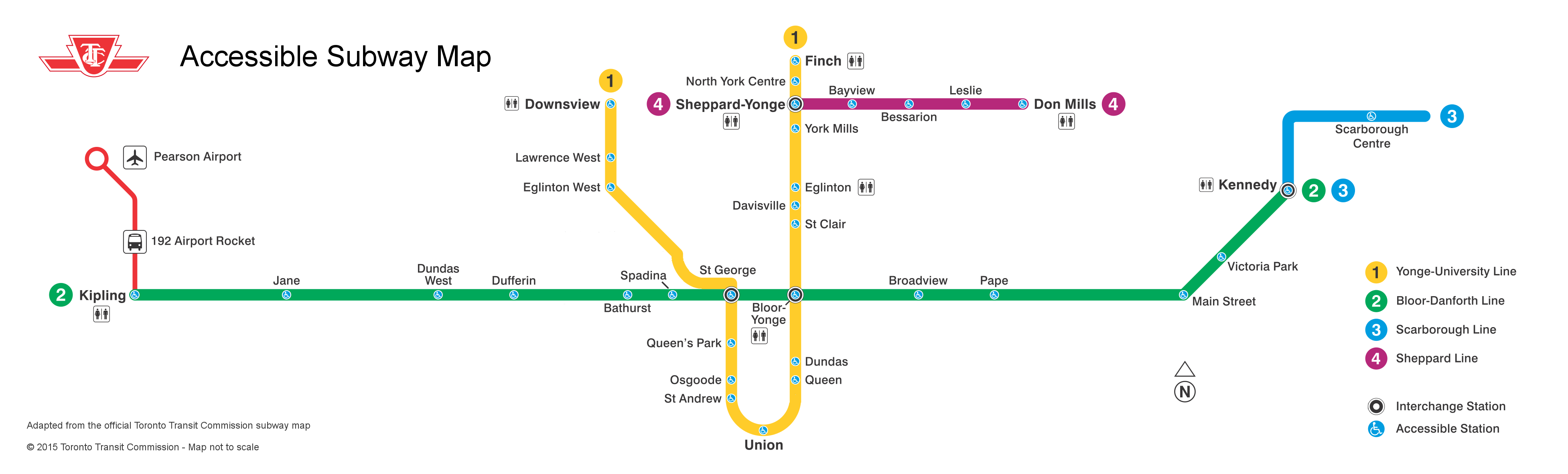 Toronto Subway Map.Mapping An Accessible Ttc Marshall S Musings