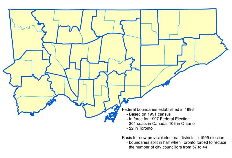 Wards and 1996 electoral boundaries