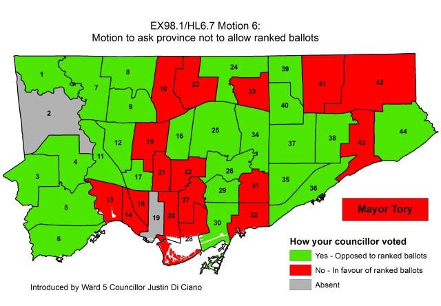Ranked ballots vote