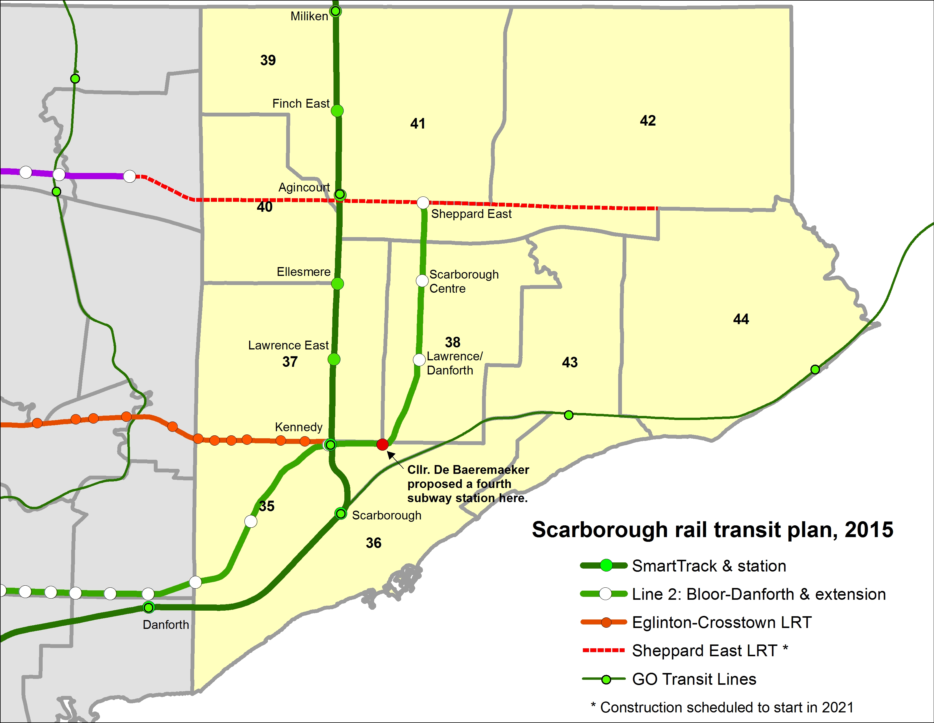 Eglinton Subway Map.Yet Another Transit Plan For Scarborough Updated Marshall S Musings