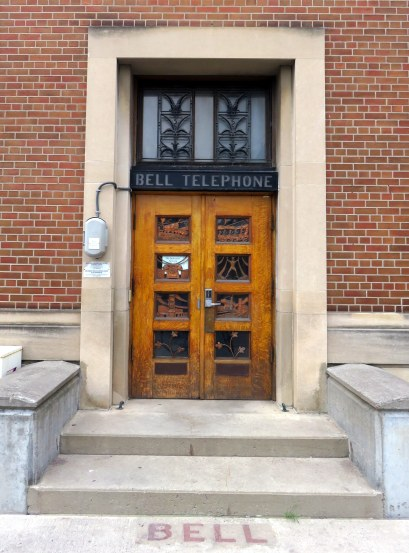 Downtown Peterborough is charming. One overlooked gem is the door to the Bell Telephone Exchange Building on Hunter Street.
