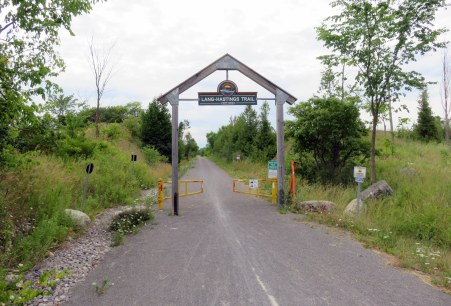 Gateway to the Lang-Hastings Trail at Keene Road, in Otonabee-South Monaghan Township