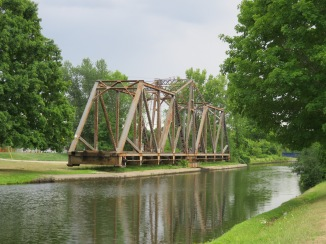 The Canadian Pacific Railway operates freight trains in Peterborough. The swing bridge across the Trent-Severn Waterway is swung closed several times a week for trains headed to the nepheline mines north of Havelock