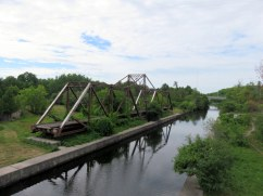 Former CN Lakefield Subdivision swing bridge, last used in the late 1980s. The trail to Trent University and Lakefield uses a new high-level bridge, from where this photo was taken