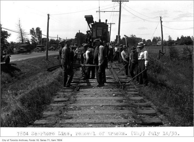 Scarborough line, removal of tracks, (Way Department)