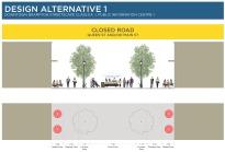 Alternative 1 - Closed road