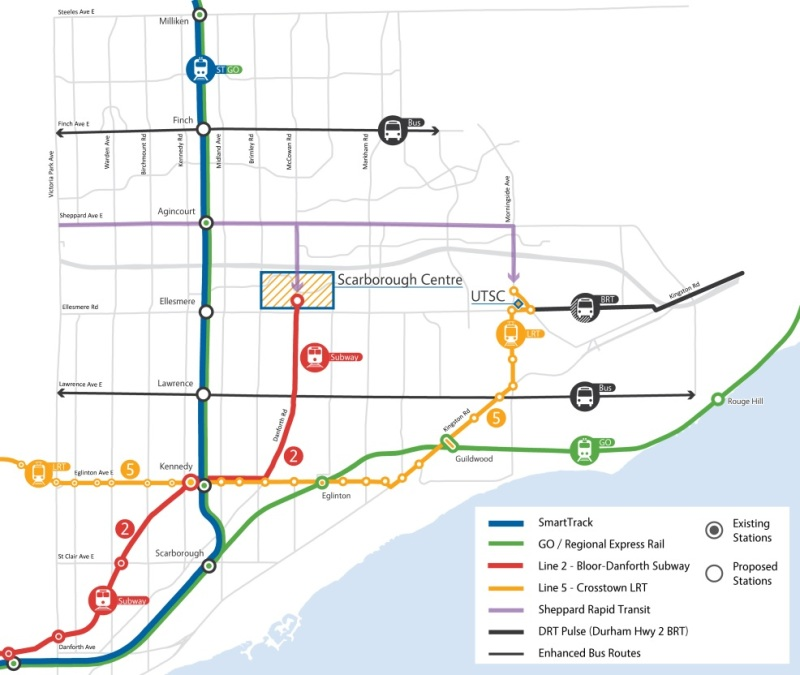 City Scarborough Map
