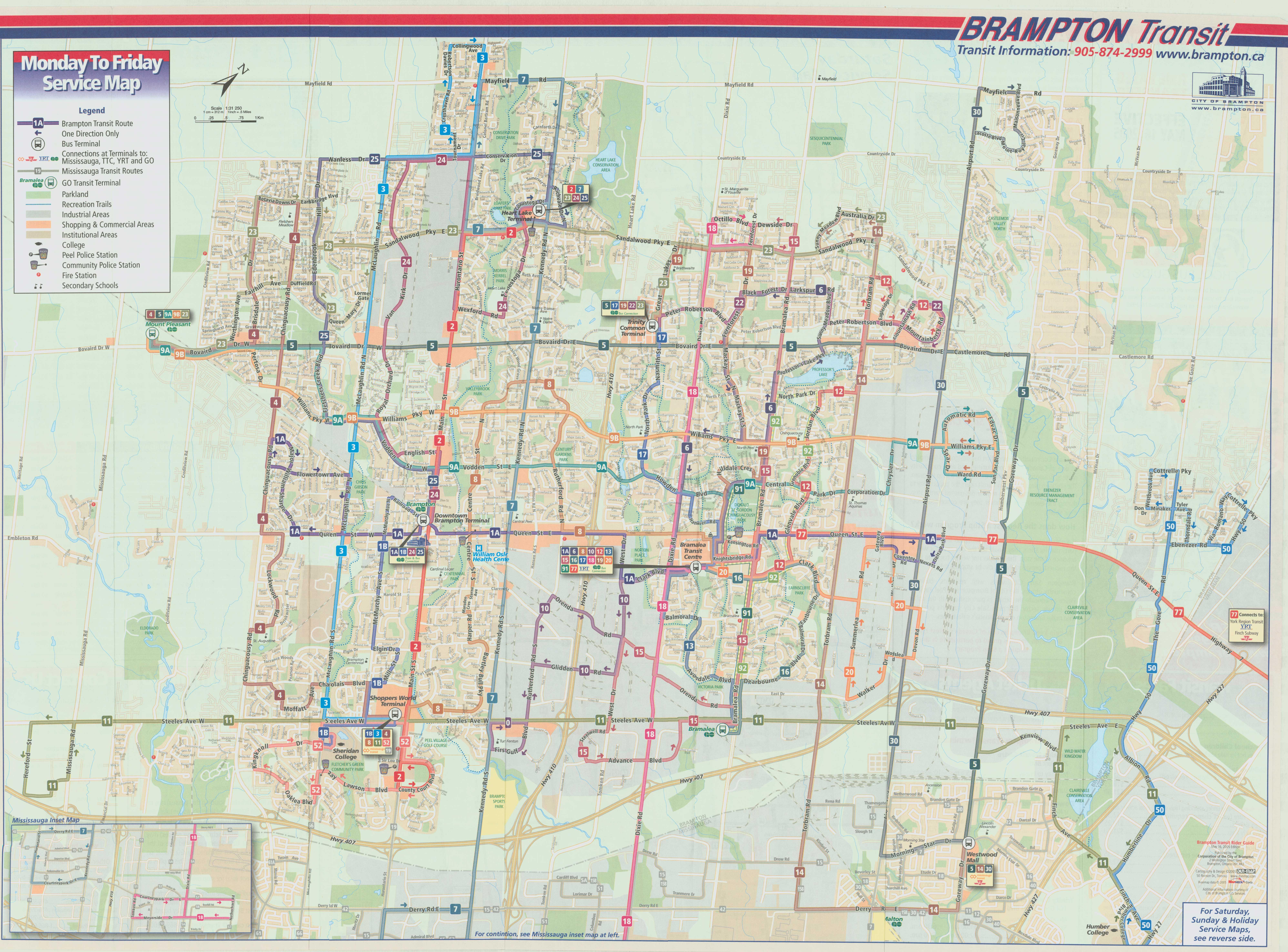 Brampton Transit Map Brampton Transit's evolution from a laggard to a leader  Brampton Transit Map