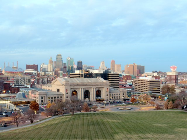 Union Station, with Kansas City's skyline behind