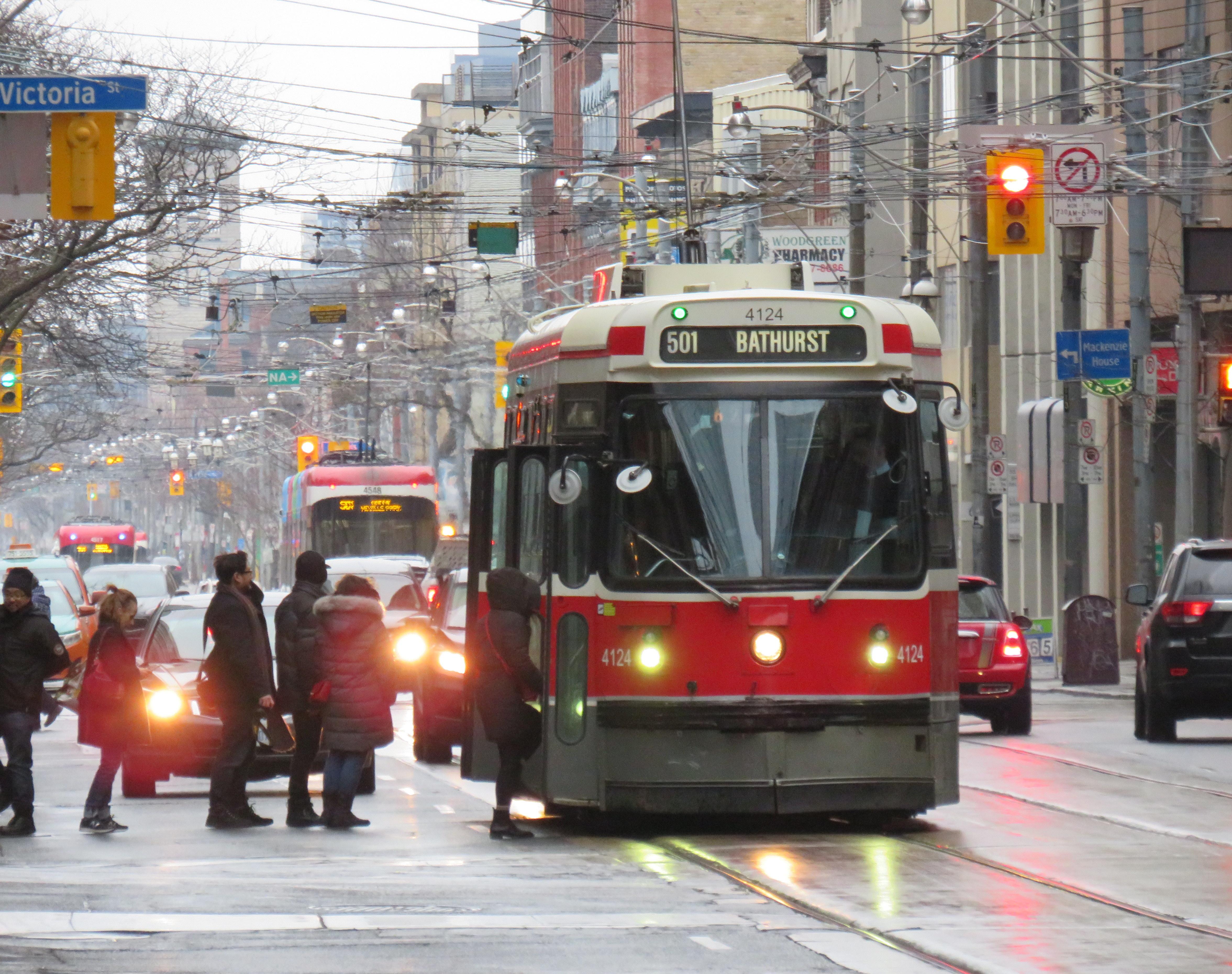 Streetcar 4124 on December 29, 2019
