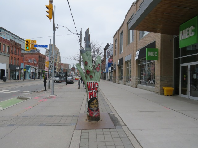 """Hug Me"" Queen Street West, March 19 2020"
