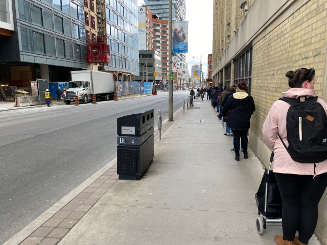 Loblaws queue on Church Street
