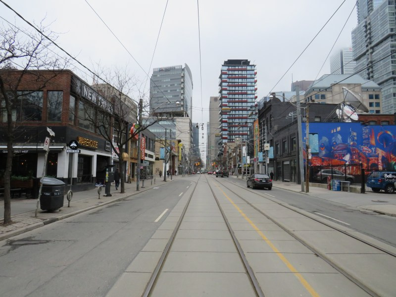 Queen Street West, late March 2020